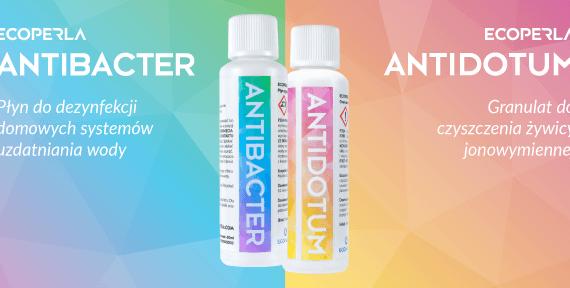 Ecoperla Antidotum i Ecoperla Antibacter - produkty do pielęgnacji filtrów wody